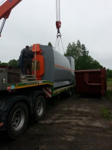 Перемещение котельного оборудования по территории заказчика фото 2